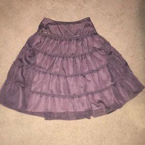 Purple tulle tierd skirt